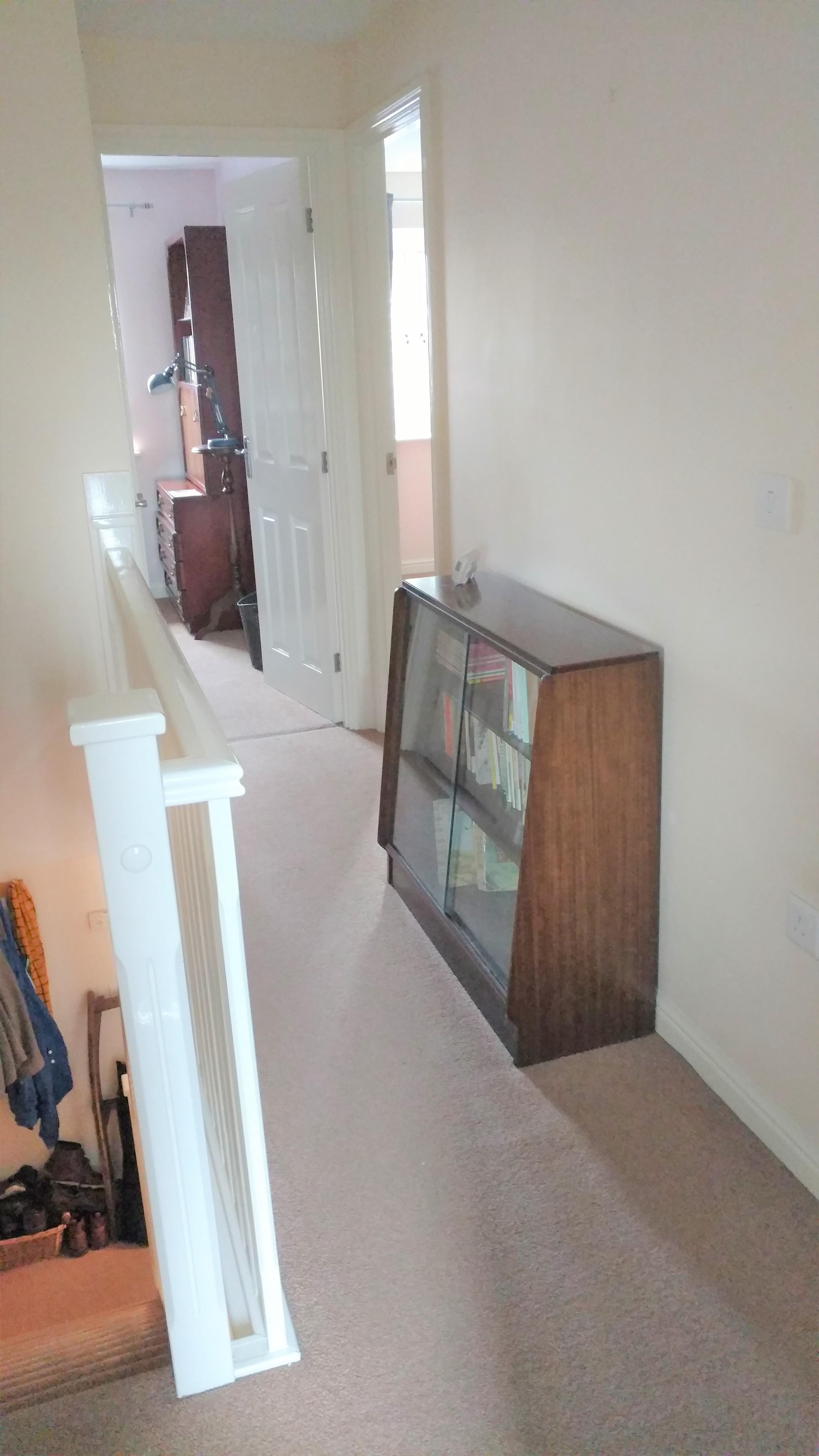 Before photo upstairs hallway